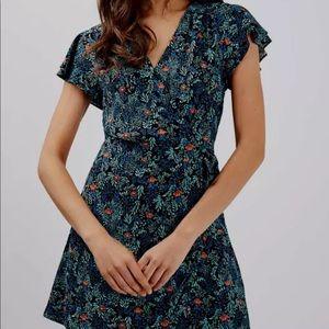 Topshop Ditsy Floral Wrap dress